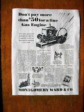 "VINTAGE REPRINT ADVERT WOODPECKER ELECTRIC START GAS ENGINE 11/""x14/"" 144"