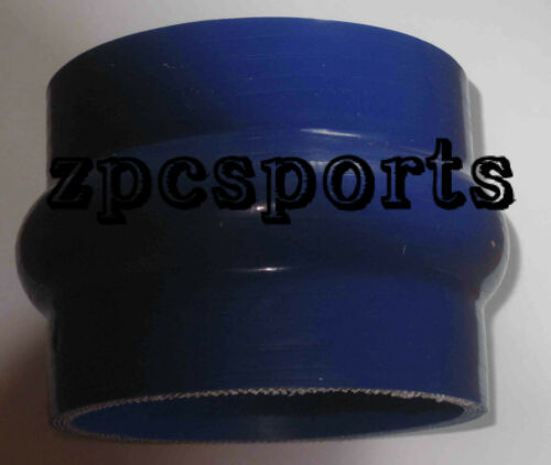 """Silicone Straight Hump Coupler Hose Silicon Turbo Blue 2.5/"""" to 2.5 inch 64mm"""