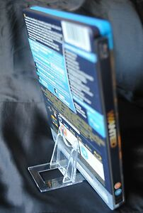 Blu-Ray-Steel-Book-Display-Stands-x-10-Clear-Plastic-DVD-Support-5cm-2-034