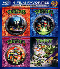 Teenage Mutant Ninja Turtles Collection: 4 Film Movies Blu Ray TMNT NEW SEALED