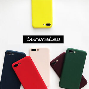 Colorful-Candy-Matte-Soft-Silicone-Case-TPU-Cover-Skin-For-Various-Phones-Models