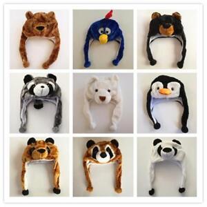 c669470fa Details about Fancy Animal Winter Hat Warm Party Costumes Halloween  Panda/Bear/Bird Beanie Cap