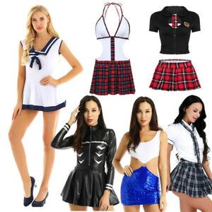 Le-Ragazze-Scuola-Studente-Cosplay-uniforme-Donna-Naughty-Sexy-Lingerie-Costume