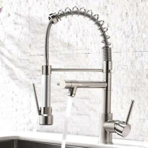 Aimadi-Kitchen-Sink-Faucet-Pull-Down-Sprayer-Swivel-Brushed-Nickel-Mixer-Tap
