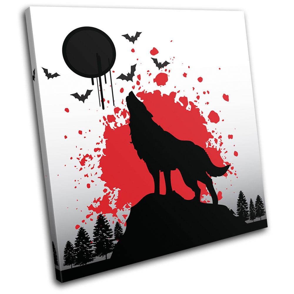 Wolf Wild Animals SINGLE TELA parete arte foto stampa