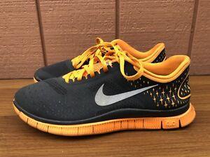 Nike Free 4 0 V2 Women Us 9 5 Running Shoes 511527 008 Grey Orange Sneakers C6 Ebay