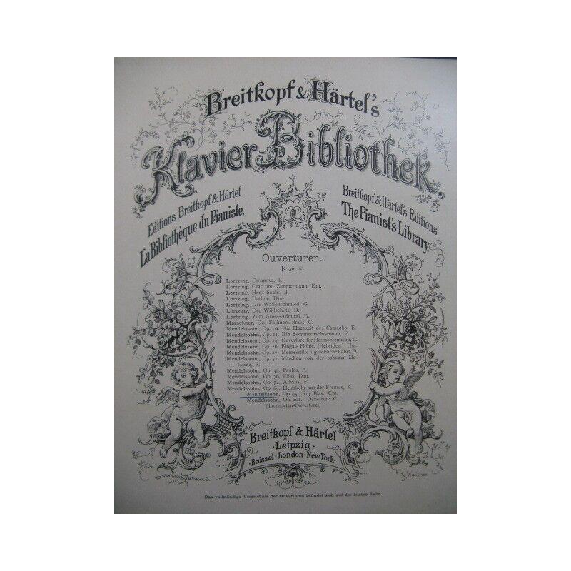 Mendelssohn ruy blas Öffnung Orchester Partitur Sheet Music Score