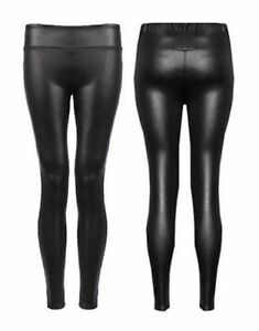 a30a8ab608dfa6 WOMENS LADIES HIGH WAIST PVC FAUX LEATHER WET LOOK LEGGINGS PLUS ...