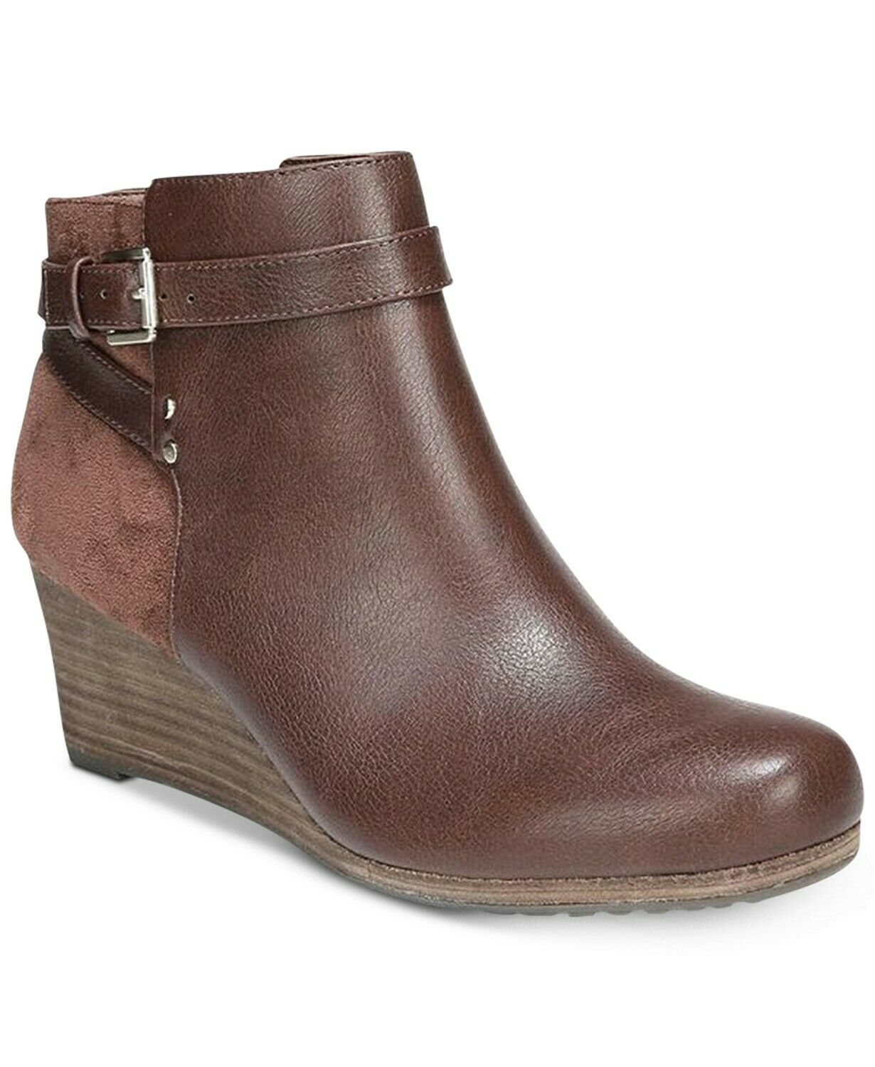 Dr. Scholl's Double Wedge BOOTIES Brown LEATHER Boots  Size 8 M -New-