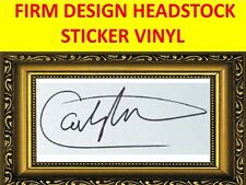 SANTANA AUTOGRAPH BLACK STICKER HEADSTOCK VISIT MY STORE WITH MANY MORE MODELS