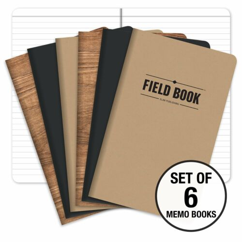 "Combo Pack of 6 5/""x8/"" Graph Field Notebook"