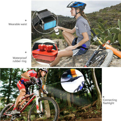 Waterproof Battery Pack Case House Cover For Bicycle Headlamp 8.4V 6x 18650 L02