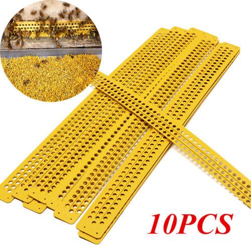 Kunststoff Pollen Collector Fallen Bienenzucht Werkzeug Gelb Packung 10 39.5cm