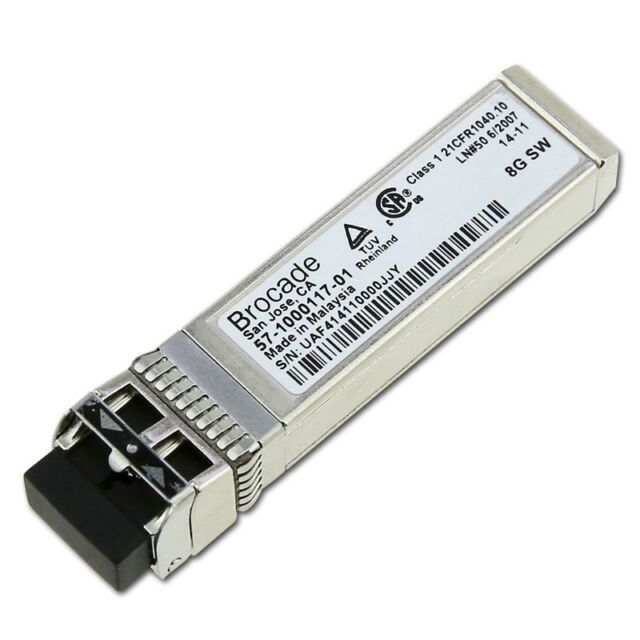 New Brocade 57-1000117-01 8GB BaseSR Multi-mode Fiber 850nm 300m SFP Transceiver