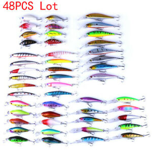 37pcs//lot Assorted Bait Fishing Lures Mixed Sets Minnow Lure Crank Baits Tackle