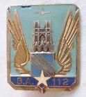 Insigne Armée de l'Air BASE AERIENNE BA 112 REIMS ORIGINAL DRAGO A 565 AIR FORCE