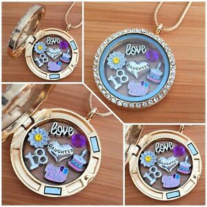 Personalised-BIRTHDAY-Gifts-Floating-Memory-Locket-Necklace-15th-16th-18th-40th