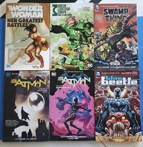Batman-Wonder-Woman-Swamp-Thing-TPB-Graphic-Novel-Trade-Paperback-Lot-DC-Comics