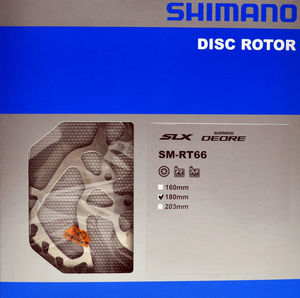 Shimano Deore SLX ZEE SM RT66 Disc Brake Rotor 160mm 180mm 203mm MTB Bike 6 Bolt