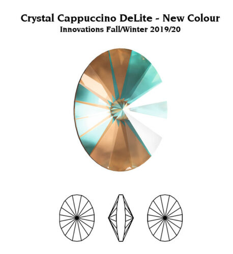Genuine SWAROVSKI 4122 Oval Rivoli Fancy Stones Crystals Many Colors