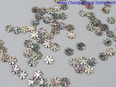 "15Pcs  inlay 0.53""x0.08""(13.5*2mm) mother of pearl shell blanks snowflake style"