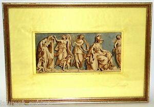 CIRCLE-OF-GIOVANNI-BATTISTA-CIPRIANI-WATERCOLOR-INK-WASH-FRIEZ-OLD-MASTER-ART
