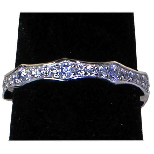 BRILLIANT CLEAR CZ ETERNITY WEDDING BAND OR STACK RING/_SZ-10/_/_NF SILVER