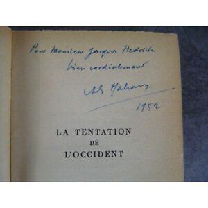 Malraux-La-tentation-de-l-039-occident-avec-dedicace-signee-bon-exemplaire-de-ce-gra