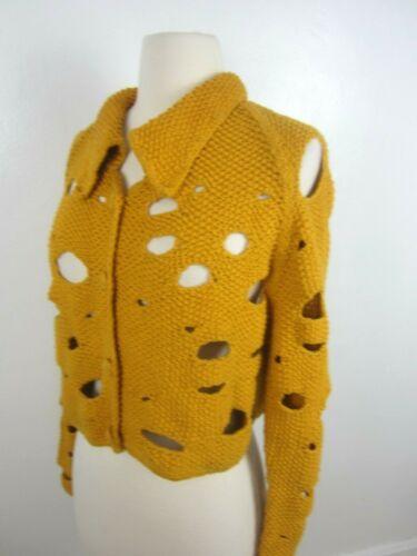 Vtg 90's MICHAEL SIMON Mustard Yellow Swiss Chees… - image 1
