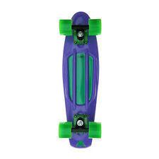 Juicy Retro Skateboard - 22 Inch - Purple Board | Black Trucks and Green Wheels
