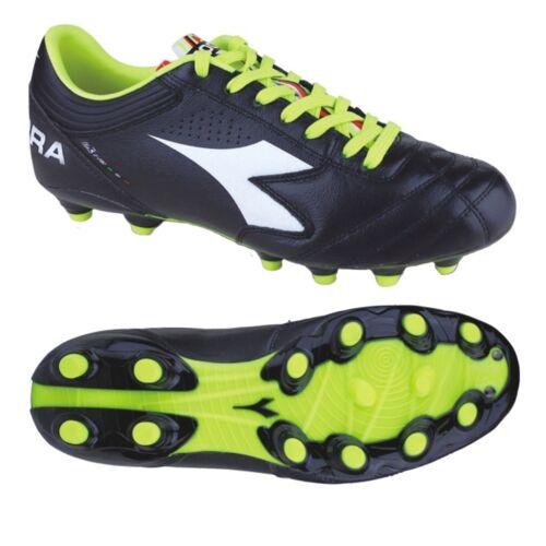 Homme Diadora ITA3K-PRO MG14 FOOTBALL FUTBOL Crampons Chaussures Kangaroo CUIR NEW