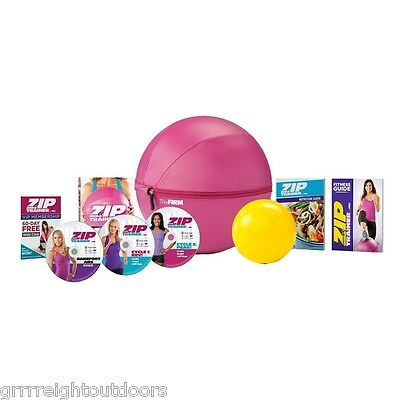 The Firm Zip Trainer Medicine Ball Kit Exercise with Training DVD's