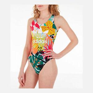 Desnatar Tractor Caramelo  FH7993 Mujer Adidas Originals Body Colores Tropicales   eBay