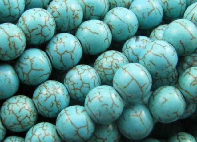 Hot Sale Wholesale 100Pcs Turquoise Charm Round Loose Spacer Beads Jewelry 6mm
