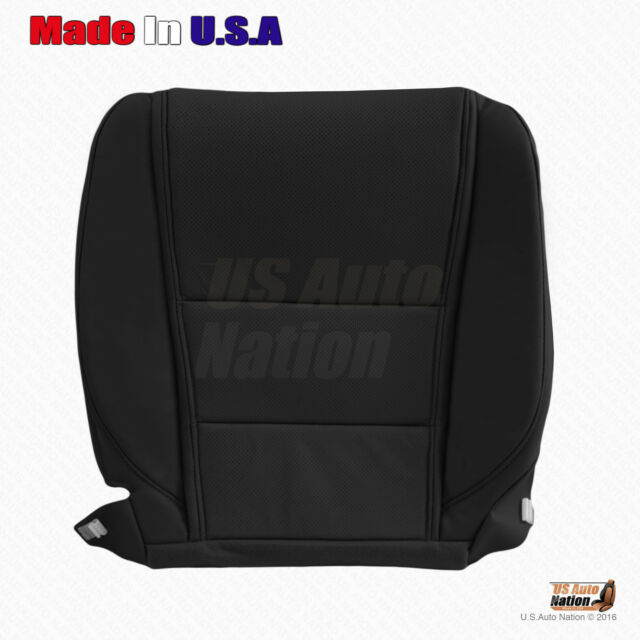 Black Passenger Bottom Perforated Leather Seat Cover FITS
