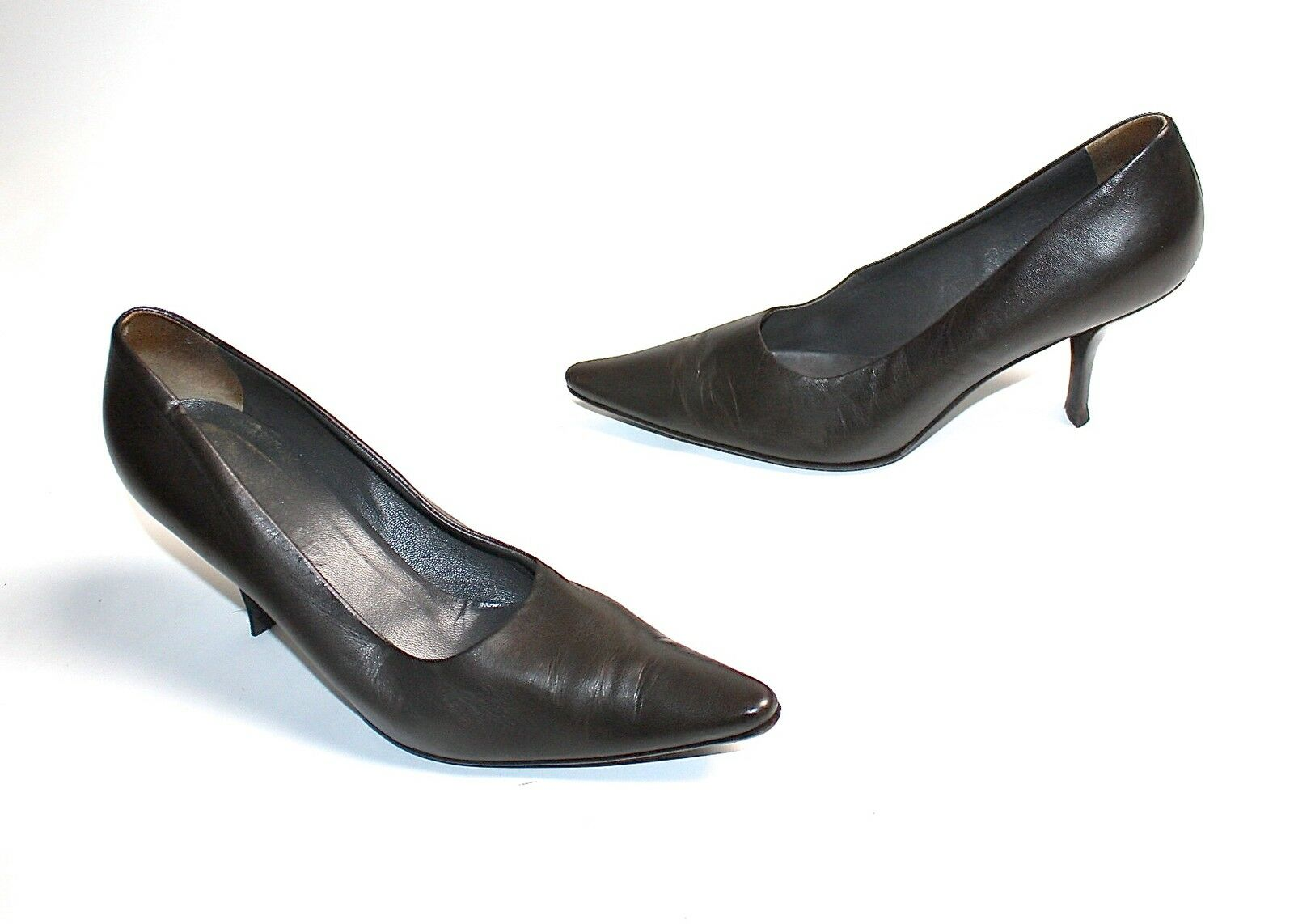 JIL SANDER    DAMENSCHUHE PUMPS BUSINESS LEDER grey-brown 38