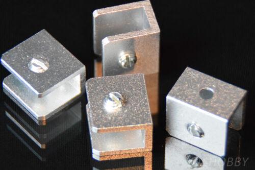 4 Mini Angolo Supporto Piastre supporto alluminio modellismo fai da te 18x20 mm Staffa