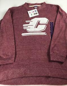 Central-Michigan-Sweater-Womens-2XL-Terry-Cloth-Sweatshirt-NEW-Chippewas-Alumni