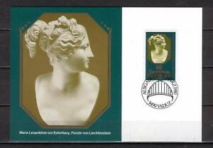 Maxi Card B39 Liechtenstein 1980 important figures