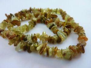 Natural-Green-Garnet-Gemstone-Chip-Beads-15-034-strand-Jewellery-Making-Craft