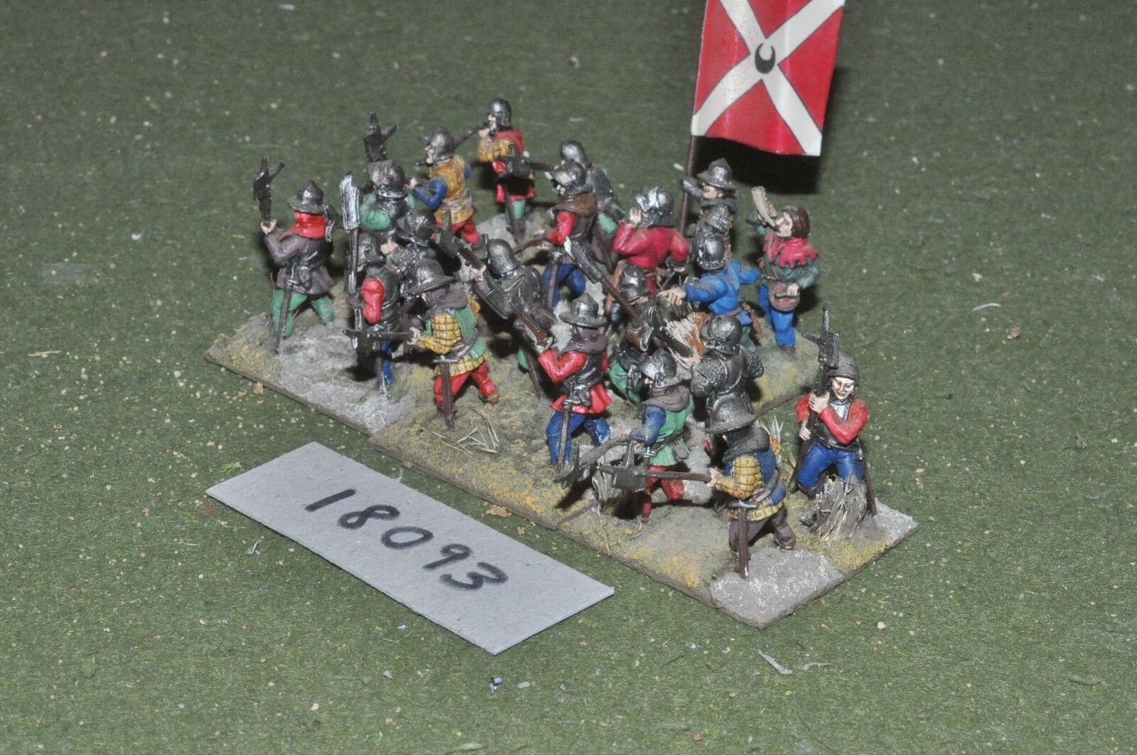 20mm medieval   generic - billmen 20 figs - inf (18093)