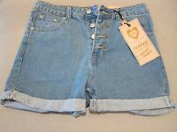 Boohoo Ellie Button Front Mom Shorts - Womens 6 -