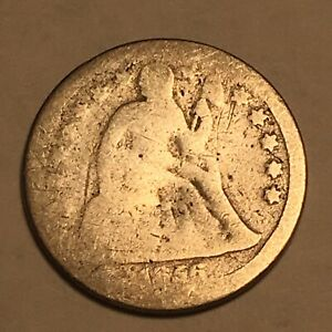 1856 Seated Liberty Dime Small Date Worn 90% Silver
