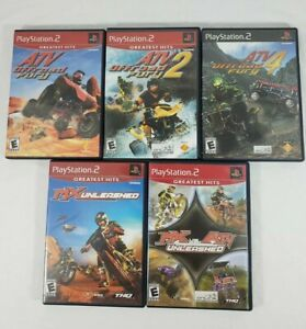 5 Game Lot ATV Offroad Fury 1 2 4 MX VS ATV Unleashed PlayStation 2 PS2