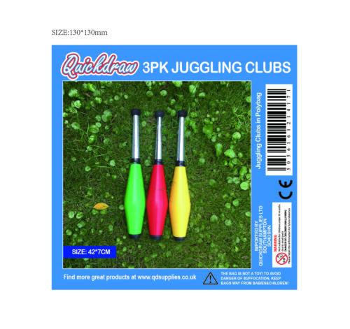 Komplettes Set Von 3 Jonglieren Clubs Anfänger Zu Pro 42cm Zirkus Juggle Nadeln