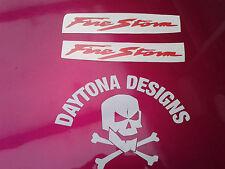 VTR FIRESTORM RED SEAT NOSE TOP FAIRING CUSTOM DECALS STICKERS