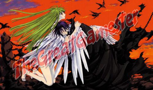 Code Geass C.C Mat #365974 and Lelouch Angel Custom Playmat Gamemat