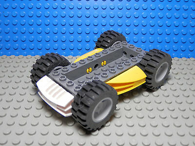 Lego X24 Black Plate 2 x 2 with Wide Wheel Attachments Non-Reinforced Bottom