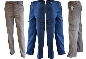 33e0608ca98b6 Das Bild wird geladen Herren-Jeans-Hosen-Schlupfhose-Freizeithose-Gr-M-5XL-