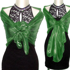 bambino migliore collezione prezzo più basso Dettagli su Stola verde coprispalle sciarpa scialle cerimonia elegante art.  D0241